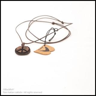 Walnut Tree Inlaid Necklace Life Series B10.YM.05