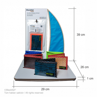 Race Sail Wallet Product Stand Display