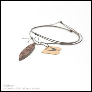 Walnut Tree Inlaid Necklace Surf Series B10.SF.06