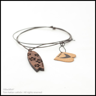 Walnut Tree Inlaid Necklace Fishboard Series B10.FB.01