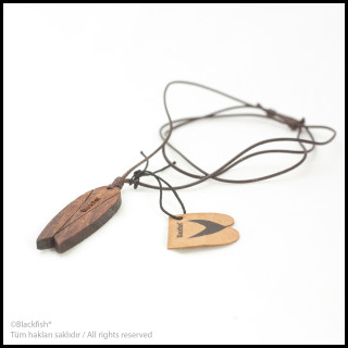 Walnut Tree Inlaid Necklace Fishboard Series B10.FB.02