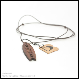 Walnut Tree Inlaid Necklace Fishboard Series B10.FB.04