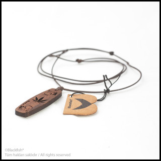 Walnut Tree Inlaid Necklace Kiteboard / Wakeboard Series B10.KT.04
