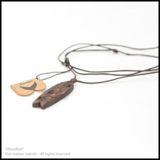 Walnut Tree Inlaid Necklace Fishboard Series B10.FB.08