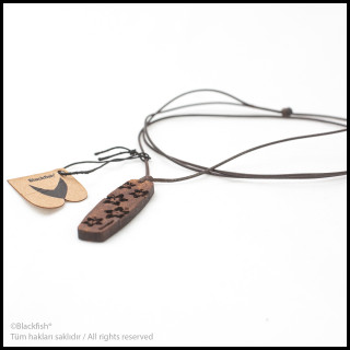 Walnut Tree Inlaid Necklace Kiteboard / Wakeboard Series B10.KT.05