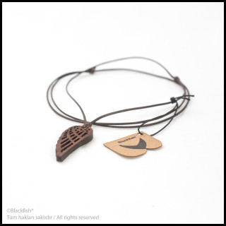 Walnut Tree Inlaid Necklace Life Series B10.YM.06