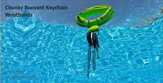 Chunky Floating Keychain Wristbands