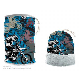 Reversible Headwear With Plush Motorcycle Series B3.MR.01