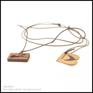 Walnut Tree Inlaid Necklace Diving Series B10.DG.01