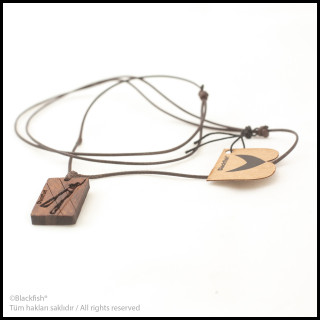 Walnut Tree Inlaid Necklace Diving Series B10.DG.02