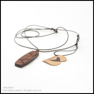 Walnut Tree Inlaid Necklace Kiteboard / Wakeboard Series B10.KT.03