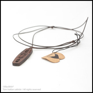 Walnut Tree Inlaid Necklace Kiteboard / Wakeboard Series B10.KT.01