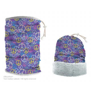 Reversible Headwear With Plush Peace Series B3.BA.01