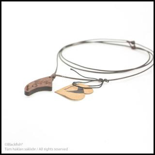 Walnut Tree Inlaid Necklace Fin Series B10.FN.02