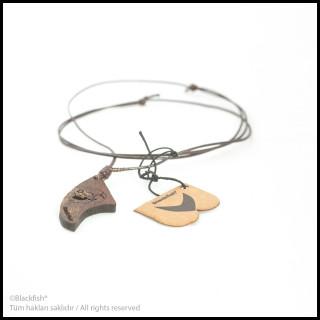 Walnut Tree Inlaid Necklace Fin Series B10.FN.06