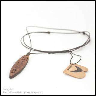 Walnut Tree Inlaid Necklace Surf Series B10.SF.04