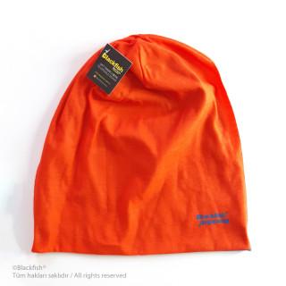 Reversible Beanie -  Orange-Blue B2.BE.05